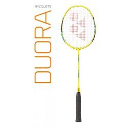 Yonex Duora 55 badmintonracket - zwart/groen - bespannen naar keuze