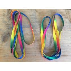 Solibad schoenveters - regenboog kleuren - 1.30m -