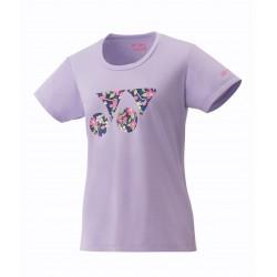 YONEX Tshirt Lady - 16365 purple- flowers