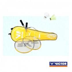 VICTOR VICfun badmintonset B - 2 rackets, 2 shuttles en tas