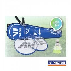 VICTOR VICfun badmintonset B2  2 rackets, 2 shuttles en draagtas