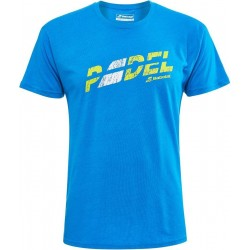Babolat padel opdruk t-shirt - blauw -