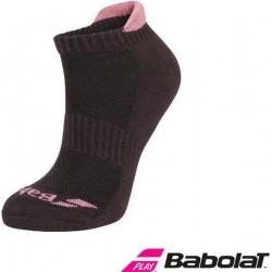 Babolat invisible enkelsokken (2paar) - zwart/roze