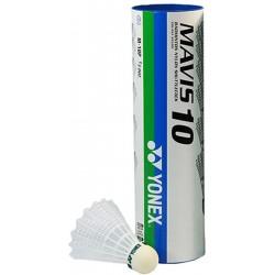 Yonex Mavis 10 -recreatieve badmintonshuttle - wit medium 6stuks