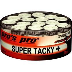 Pro's Pro Super Tacky overgrip - wit - 30pcs