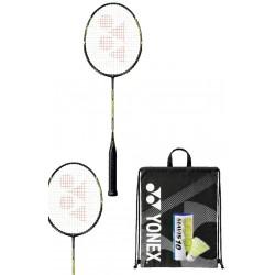 Yonex Carbonex 6000N pakket - 2 CAB6000 met Mavis 10 - zwarte drawstring tas