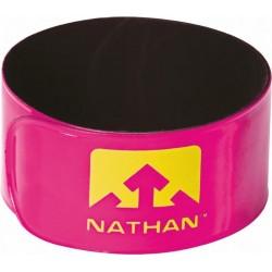 Nathan Reflector clips - Be Seen Run longer - roze - 2 stuks