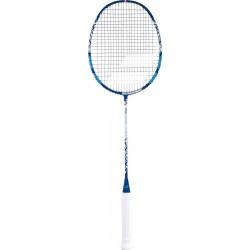 BABOLAT Prime Essential badmintonracket - blauw/grijs- bespannen