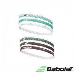 Babolat elastiche dames haarband - wit/blauw/groen - 6 stuk
