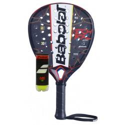 Babolat Technical Veron padelracket - zwart/rood - met Babolat Tour padelballen