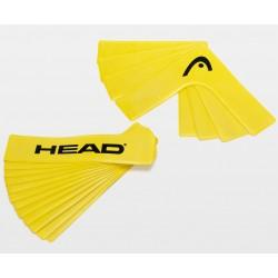 HEAD court markers / lijnen - 12 delig - 4 hoeken - geel