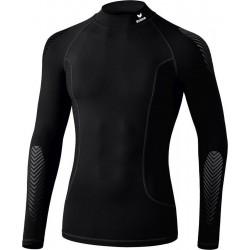 Erima Elemental Longsleeve met kraag - Thermoshirt - zwart maat M