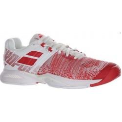 Babolat Propulse Blast indoor dames tennisschoen - wit/hibicus rood