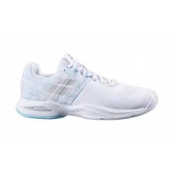 Babolat Propulse Blast indoor dames tennisschoen - wit/lichtblauw