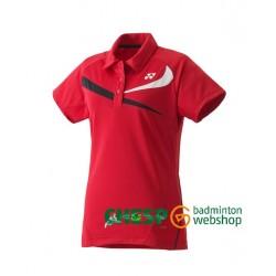 Yonex polo dames TEAM 20240 - rood