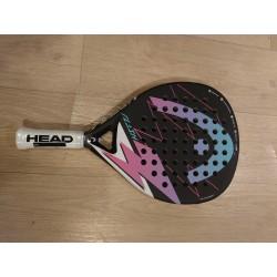 HEAD Flash padel racket met HEAD Pro padelballen - zwart/roze - instapmodel