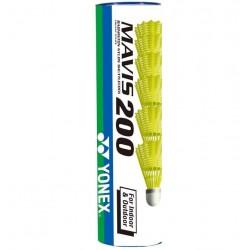 Yonex Mavis 200 outdoor badmintonshuttle - geel