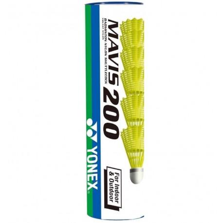 Yonex outdoor badmintonshuttle Mavis 200 - geel