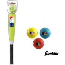 Franklin oversized foambat groen - Franklin soft foam ballen - set van 3