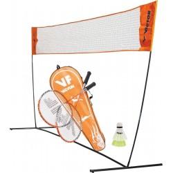 VICTOR badmintonnet EASY met Victor hobby badmintonset 1.6