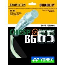 Yonex BG65- coil 200m - badmintonsnaren - duurzaam en touchy -