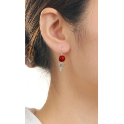 Beaded Shuttlecock Earrings
