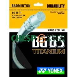 Yonex BG65 Titanium - CHESP set 10m - badmintonsnaar