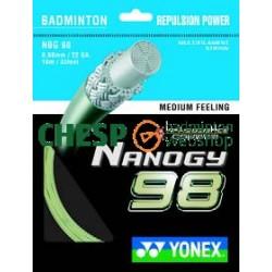 Yonex Nanogy 98 (goud) - Yonex set 10m - badmintonsnaar