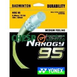 Nanogy 95 (goud) - Yonex set 10m - badmintonsnaar