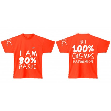 CHEMPS sponsorshirt - 100% CHEMPSbadminton