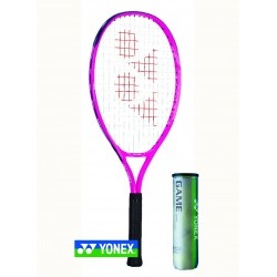 Yonex EZONE jr 25 alu | Deep pink | L0 | Yonex GAME tennisballen