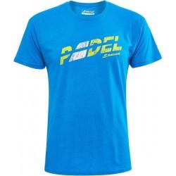 Babolat padel opdruk t-shirt | blauw |