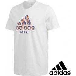 Adidas Logo Padel t-shirt wit | maat L