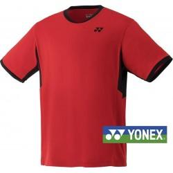 Yonex junior team shirt YJ0010EX sunset rood | maat 135-145